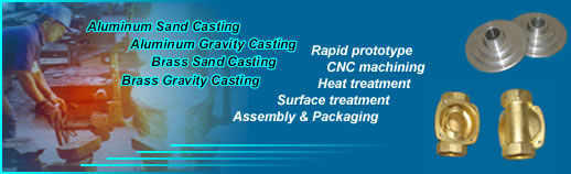 China aluminum and brass sand casting and permanent mold casting manufacturer